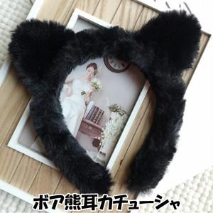 ボア 熊耳 カチューシャ 女の子 仮装 コスプレ ヘア アクセサリー k19082