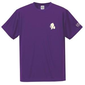 ワンポイントキャラクターTシャツ(バイオレット×オフホワイト)