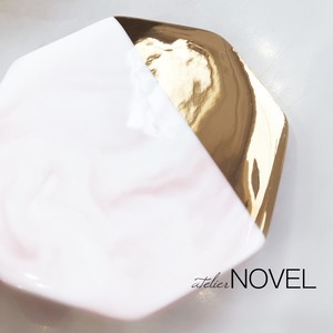 Marble stone plate (Pink)
