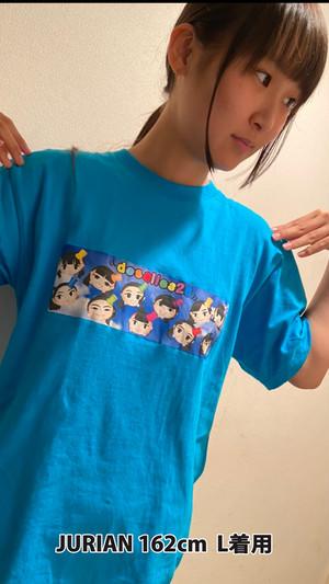 ディゼル似顔絵イラストTシャツ(青)