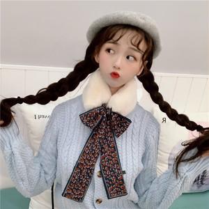 【ファッション小物】秋冬ファッションカジュアルプリントスウィートマフラー