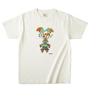 オーガニックコットン キノコ土偶Tシャツ ホワイト