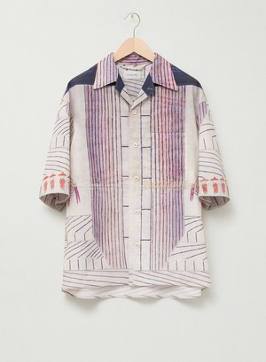 LEMAIRE RAMIREZ SHORT SLEEVE SHIRT 150 MULTICOLOR M 211 SH169 LF583