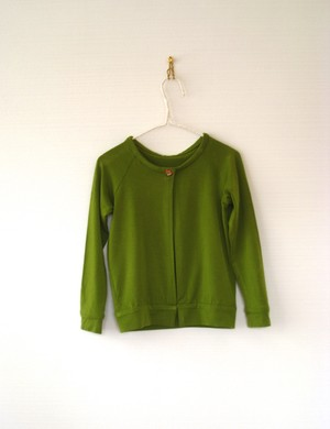 Kids Unsex  /  Cardigan  ( col.moss green / kc-1mg )
