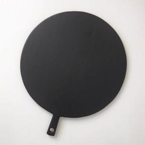 【訳ありセール】黒い丸型のサービング・ボード|【Damaged】 Black Round Serving Board