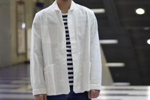【maillot】chino deck shirt col.WHITE