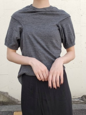 【used】COMME des GARCONS wool design cut and sew コムデギャルソン ウール 変形カットソー