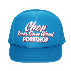 CHOP YOUR OWN WOOD CAP/TURQUOISE BLUE
