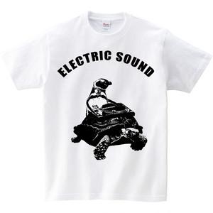 [キッズTシャツ] ペンギンとカメとターンテーブル
