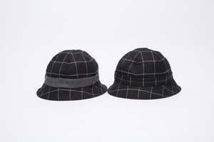 BW WOOL CHECK HAT
