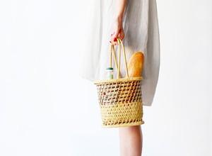 菖蒲籠(ボトルバッグ)小林ミドリ竹籠店