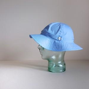 リボンと遊ぶ帽子【Cotton hat】-sax blue-