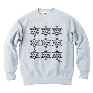 ERICH / NINTH HEXAGRAM CREWNECK SWEAT ASH