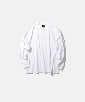 ATON FRESCA PLATE OVERSIZED LONG SLEEVE T-SHIRT White KKAGBM0015