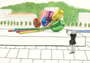 【原画】Una obra de Jeff Koons チューリップ