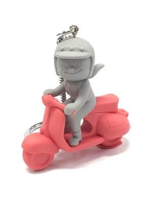 蜂バイク 赤×グレー系