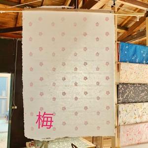 紗型和紙 梅
