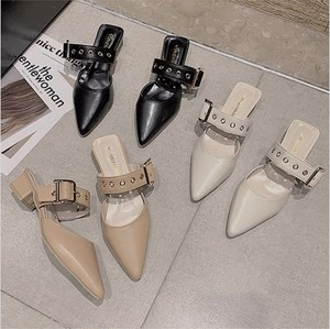 pointed toe belt shoes 3color