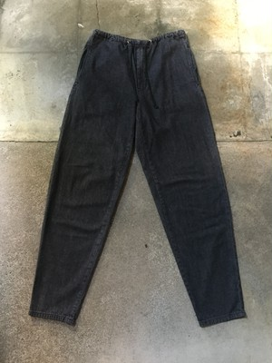 80s Valentino Black Denin Easy Pants