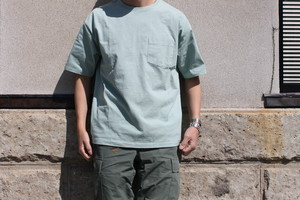 CAL O LINE キャルオーライン / SOLID COLOR POCKET S/S TEE (COMFORT)