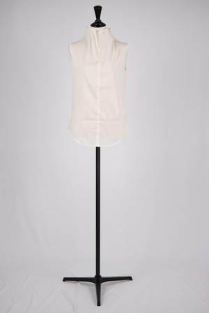 【MURRAL】stretch sheer sleevless top - white