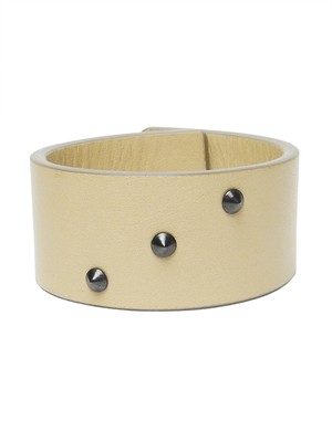 Leather bracelet 'peau' studs pyramide ブレスレット 171ABR24