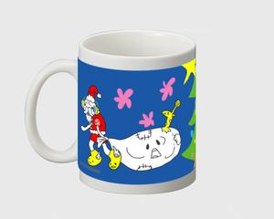 ヘトヘトサンタと星ぴかり かわいいマグカップ