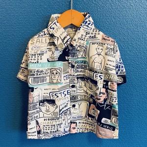 手書きイラスト風のキッズアロハシャツ
