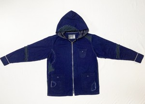 デストロイインディゴツイルフーディージャケット / Destroy indigo twill  hoodie Jacket