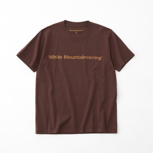 SIDE WM LOGO PRINTED T-SHIRT- BROWN