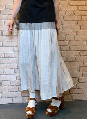サテンマキシギャザースカート