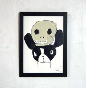 with a skull