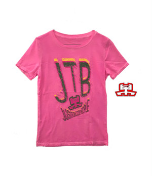 【JTB】蛍光ロゴ Tシャツ【ピンク】イタリアンウェア《W》
