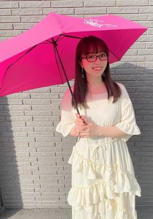 晴雨兼用★UVカット折りたたみ傘【ピンク】