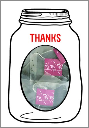 GREETING SWEETS ガラスジャーダージリンティー 選べるメッセージ