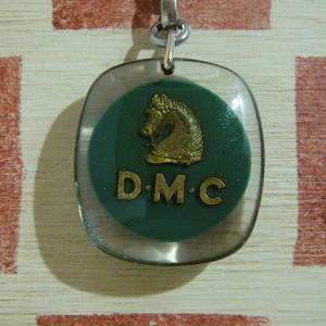 フランス D.M.C 老舗手芸糸メーカー企業広告 馬 ブルボン社キーホルダー