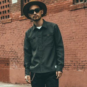 CRIMIE / C1G5-SH10	STRIPE WORK SHIRT