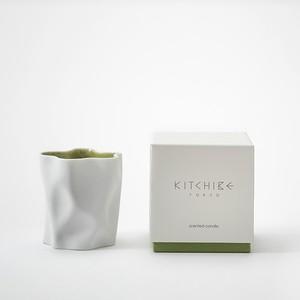 心地よい香りのキャンドル Crinkle Candle -MATCHA- KITCHIBE
