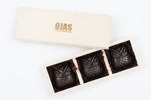 【定番人気ギフト商品】OWL CHOCOLATE /3per 1set with special wood box.:梟 ローチョコレート 3種セット(木箱入り)