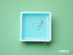 セレブさんブローチ[四角/blue]*new