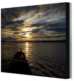 全紙写真パネル アラスカ・ユーコン川 山田龍太撮影 木製パネル張り 20160802220131