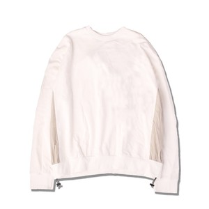 SIDE PANEL SWEAT PULLOVER / WHITE