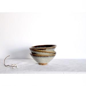 うつわ屋まる【飯椀(M) - 黒糠 -】hand made / 笠間焼 / japan 小丼 丼 bowl