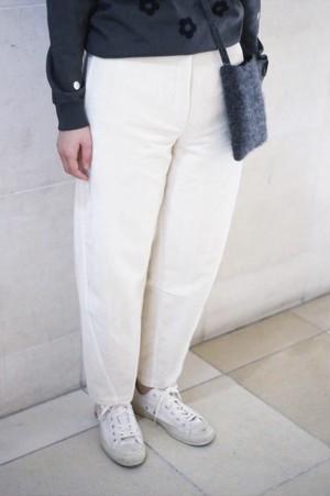 "A .Dupré ""High Waist pants""[Nature White]"