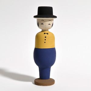 紳士こけし 約4寸 約12cm 田山和泉 工人(南部系)#0024