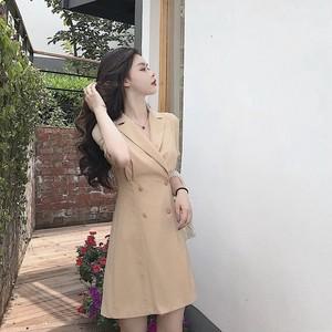 【dress】ファッション着痩せ気質よいスリムワンピース
