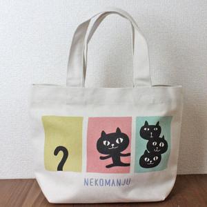 【ネコマンジュウ】パネルネコマンミニトート【ランチトート】【猫グッズ】