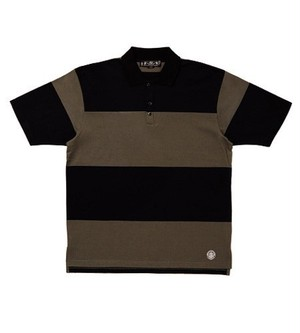 BAL BLACK STRIPED POLO