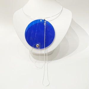Azumi and David / layered constructivist necklace (circle & half moon)