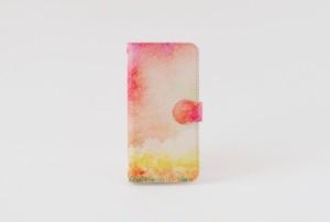 手帳型iPhoneケース「森と、朝焼け」